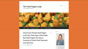 the datil pepper lady blog site homepage