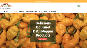 osa gourmet wix homepage