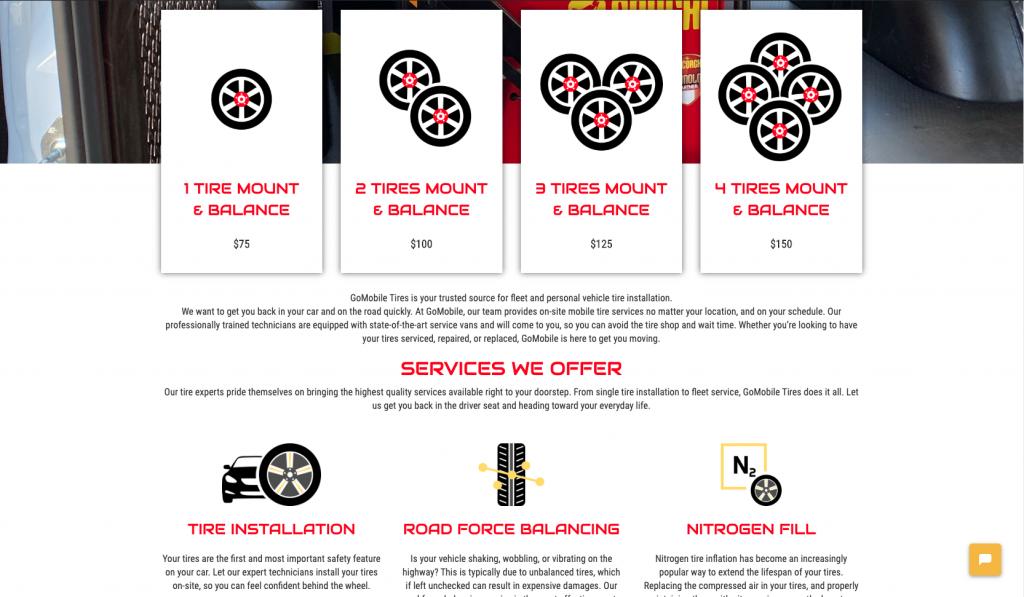 gomobile tires custom design icons