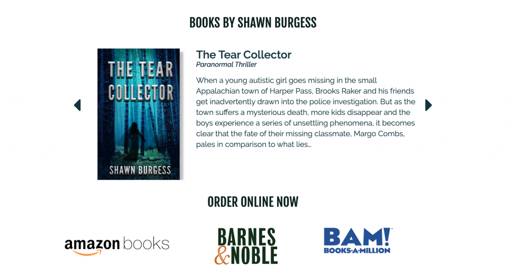 shawn burgess author book features and links to ordering